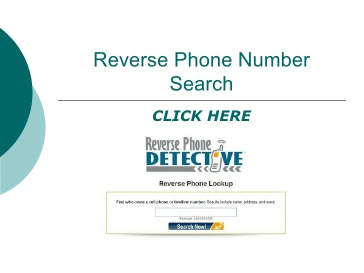 Reverse phone number searches 1.0 1.0 : notisbya