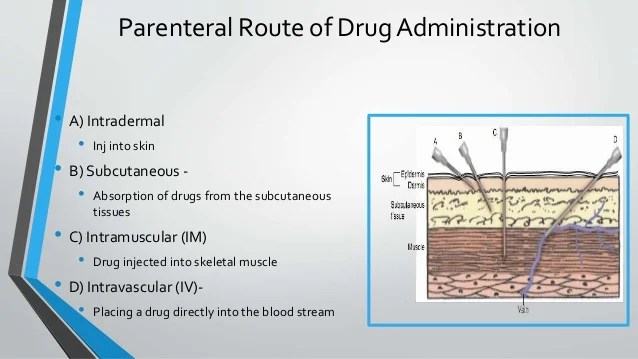 Fastest Route Drug Administration