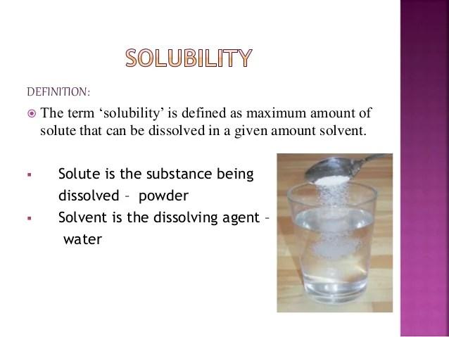 Molecular Solute Examples