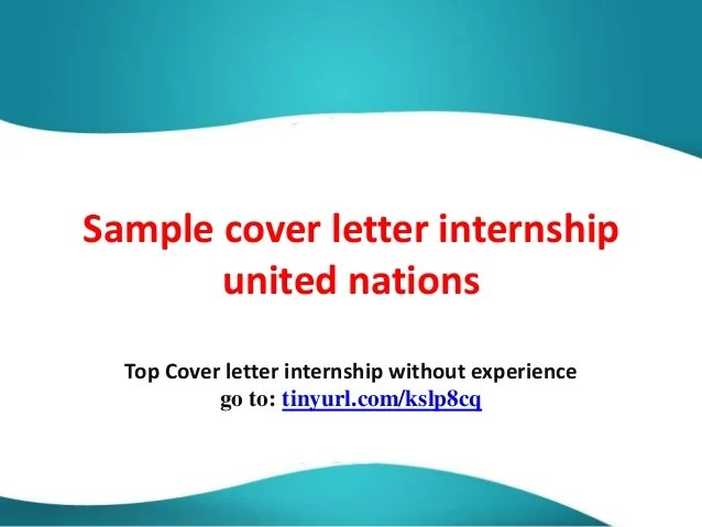 Sample Motivation Letter Internship