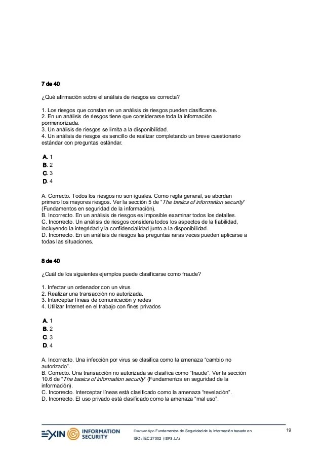 Exam Security Information