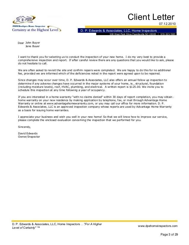 Inspection Letter Invitation
