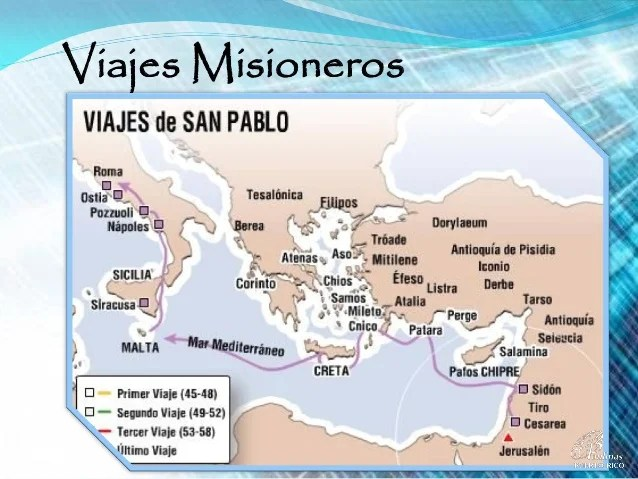 Misionero Viaje Primer Pablo Del Apostol
