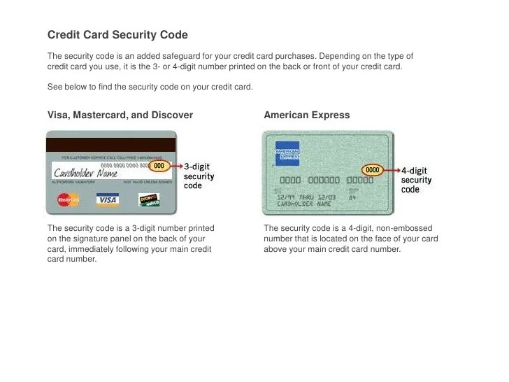 Credit Card Numbers And Security Codes 2013