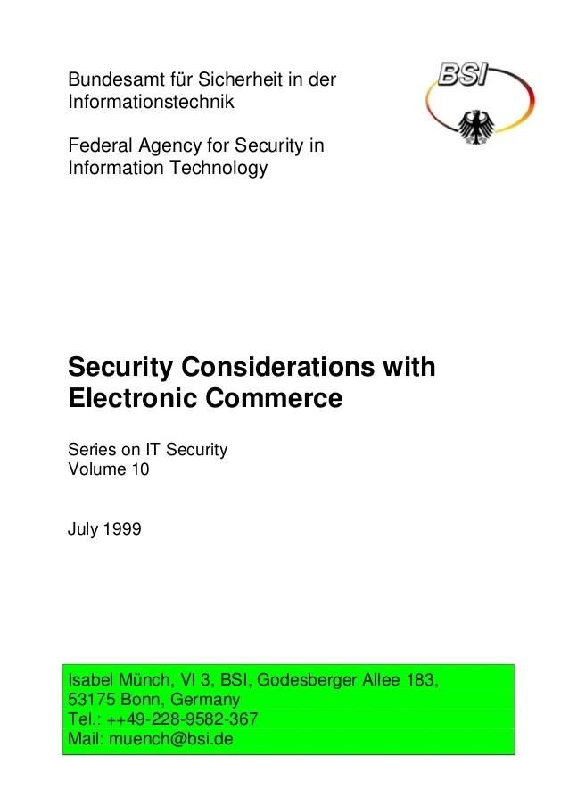 Security Consideration Web