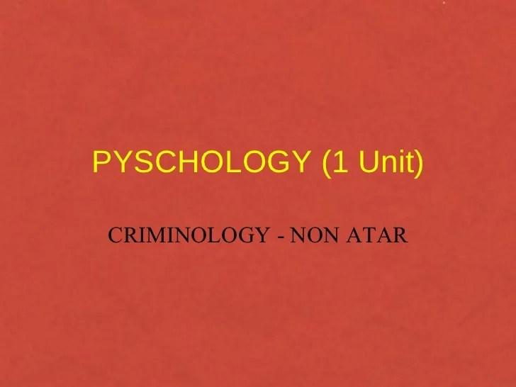 Environmental Pyschology