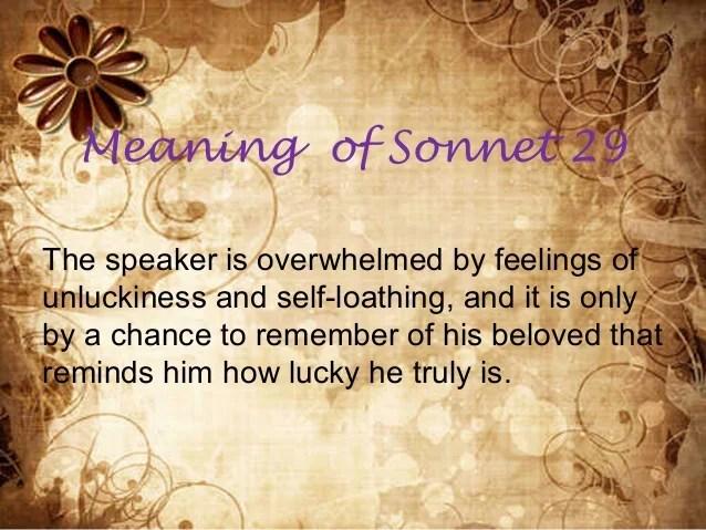 Sonnet 29