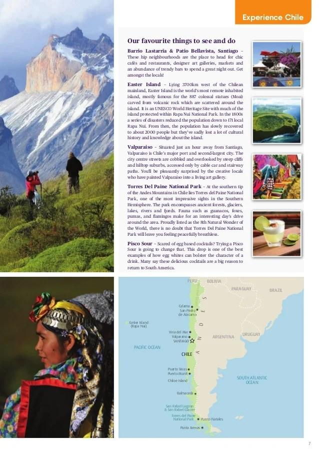 Brochure Santiago Chile Travel