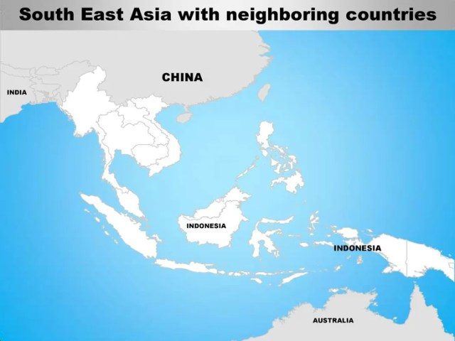 South east asia editable continent map with countries     edited separately  7  South East Asia