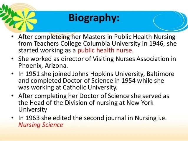 Nursing Theory Martha Rogers The Science Of Unitary