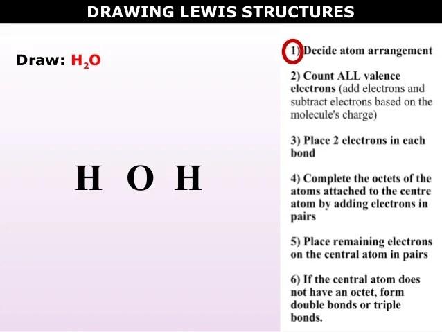 Dot Diagram H2o Lewis