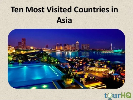 Ten Most Visited Countries in Asia