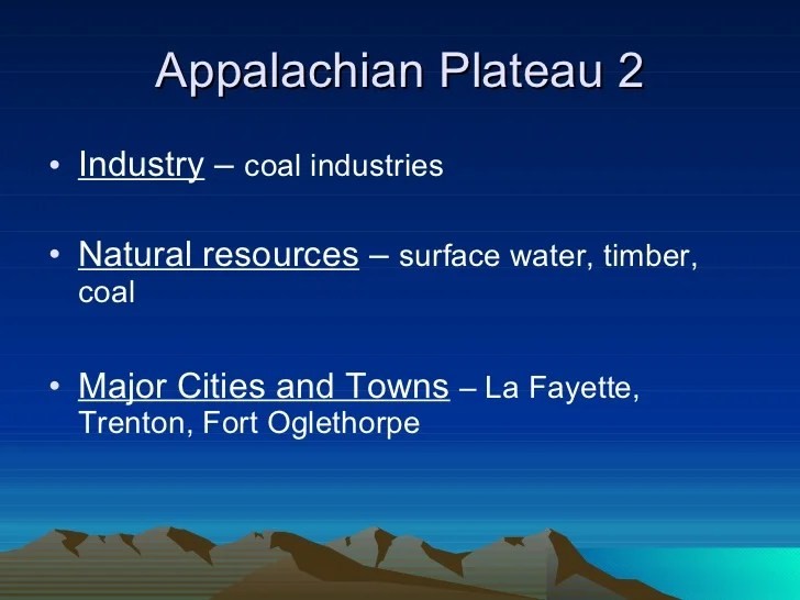 Appalachian Cities Plateau Georgia