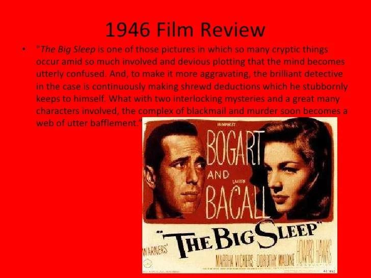 the big sleep 1978 review