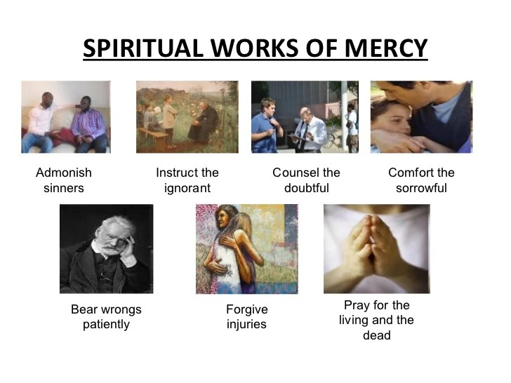 bear wrongs patiently spiritual works of mercy - 728×546
