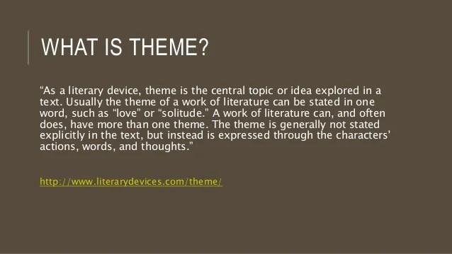 Intro to Literature: Theme Presentation