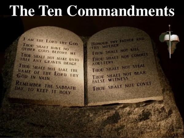 10 commandments of god # 23