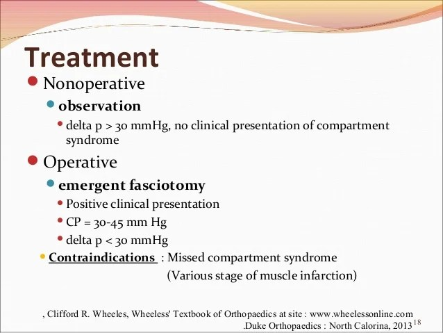 Syndrome Compartment Treatment Anterior
