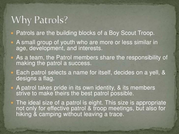 Boy Scout Patrol Method