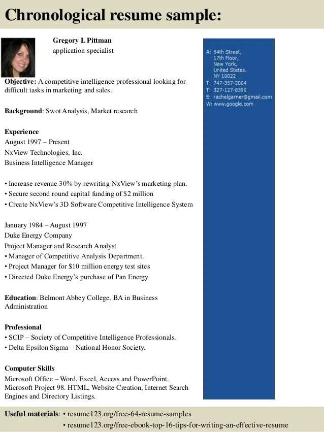 Top 8 Application Specialist Resume Samples