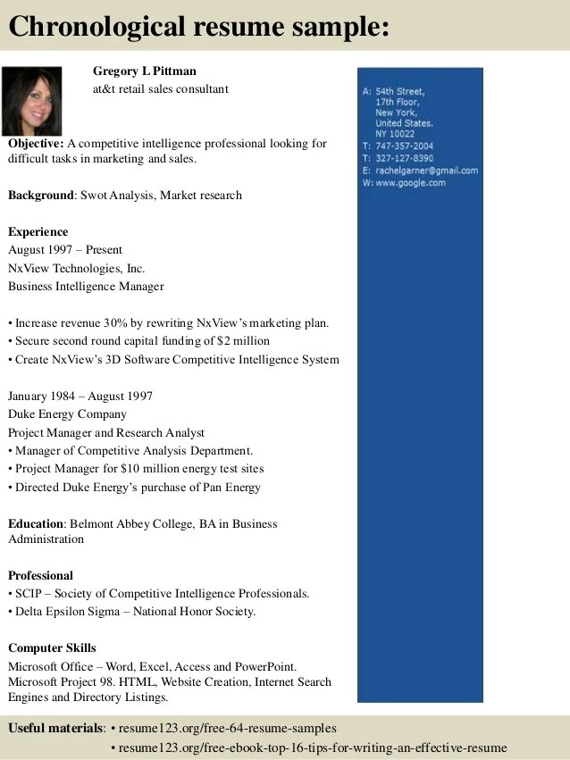 Top 8 At Amp T Retail Sales Consultant Resume Samples