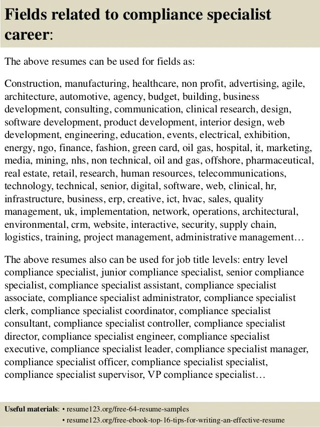 Quality Resume Compliance