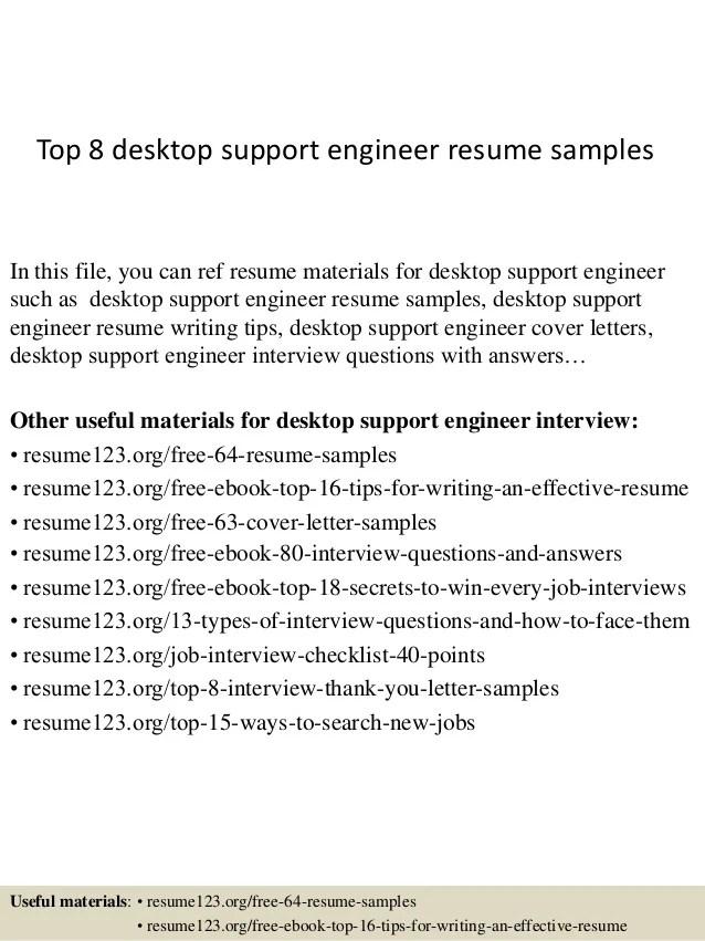 Deskside Support Resume