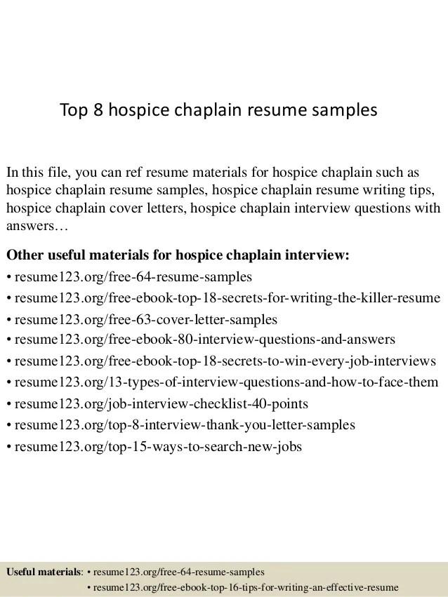 Resume Cover Chaplain Letter