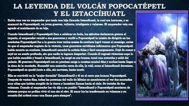 Iztaccihuatl La Del El Y Popocatepetl Leyenda