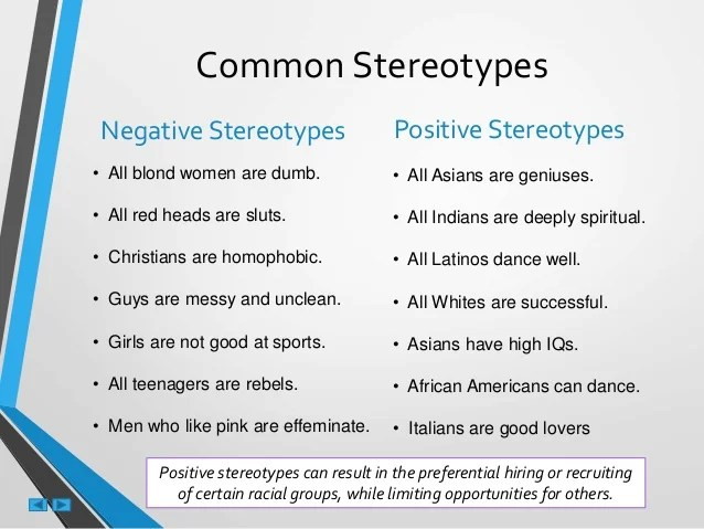Common Black Stereotypes 2019