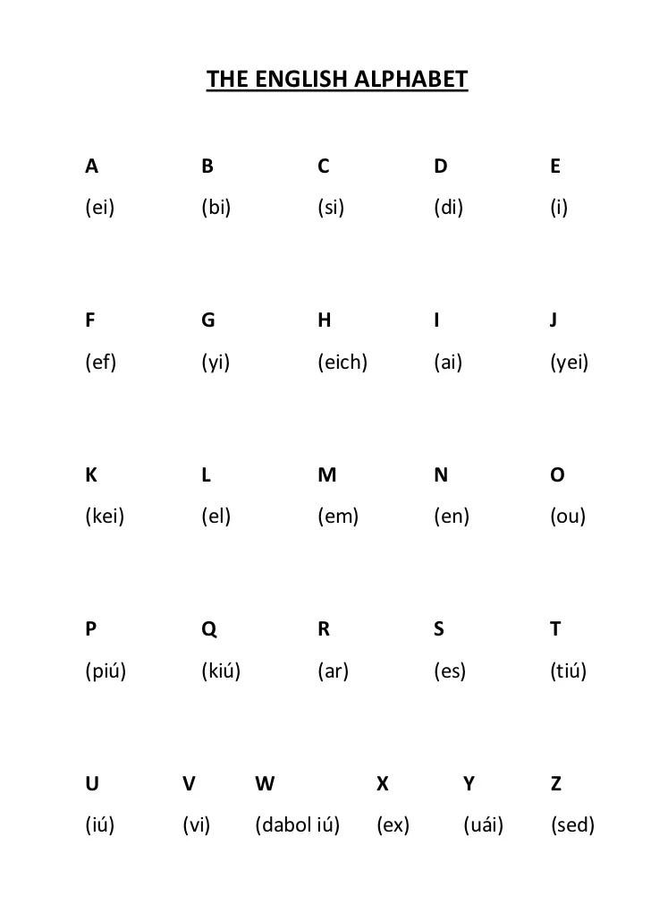 Alphabets English Chinese Language