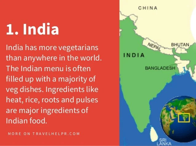 Top 10 Vegetarian Friendly Countries in Asia C O M  12  1