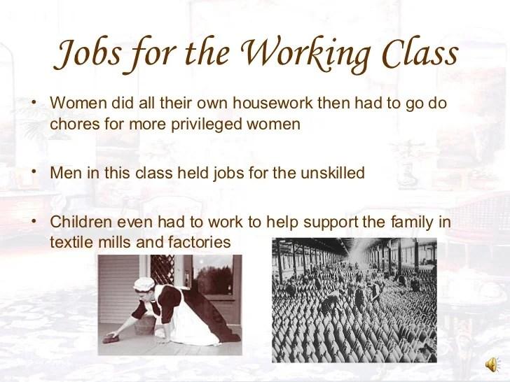 victorian era social classes