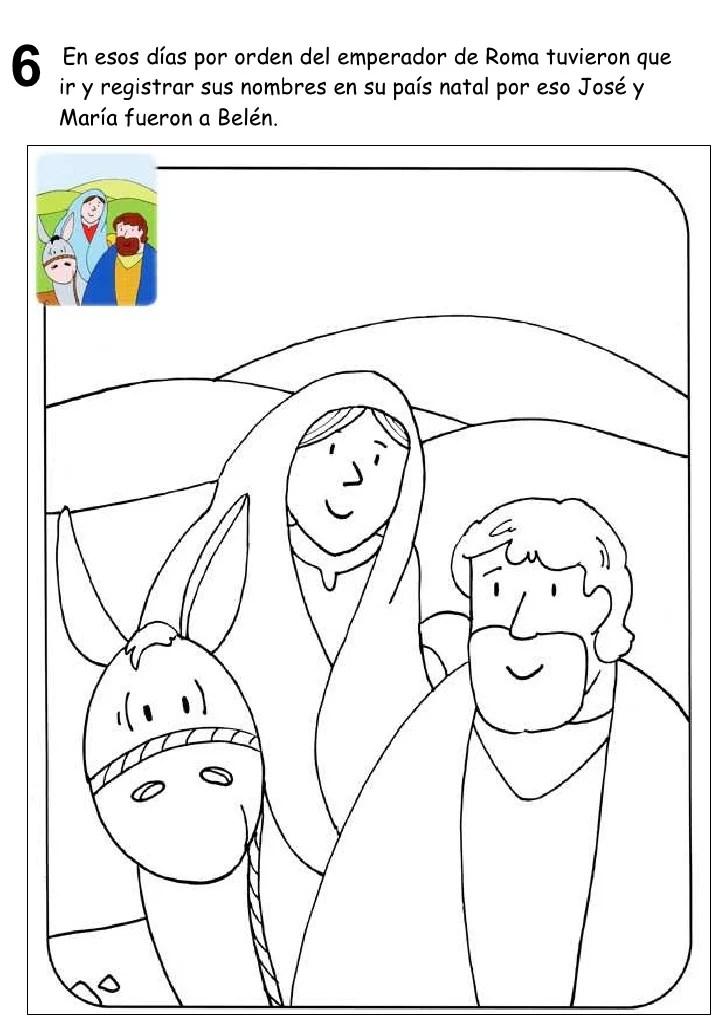Dibujos De Maria Jose Y El Nino Jesus