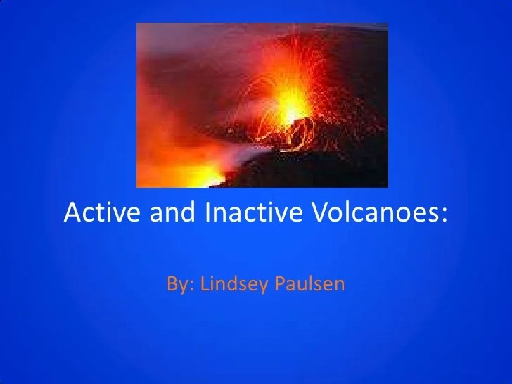 Volcanoes presentation