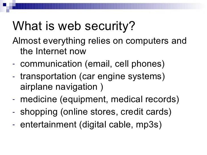 What Web Security