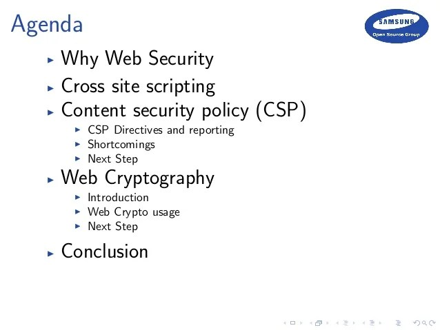 Web Security Cryptography