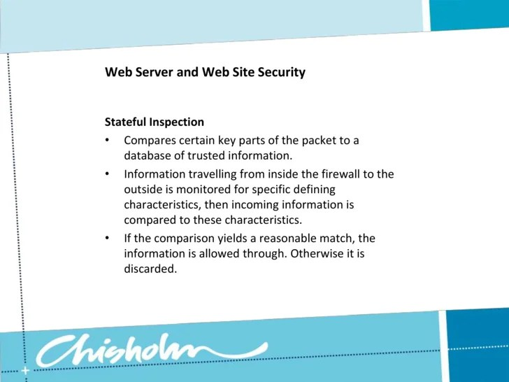 Web Server Security And Database Server Security