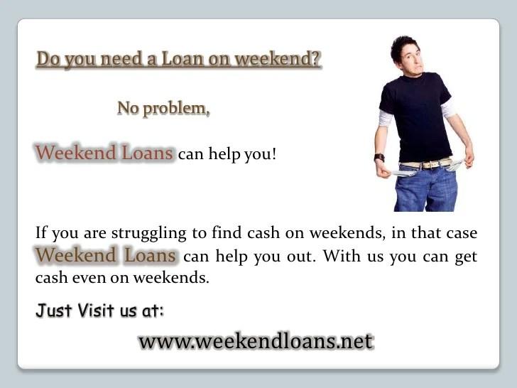 Weekend Payday Loans- Cash Advance- Weekend Loans No ...