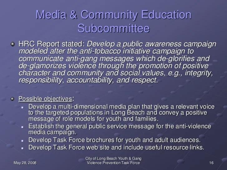 Prevention Gang Brochures