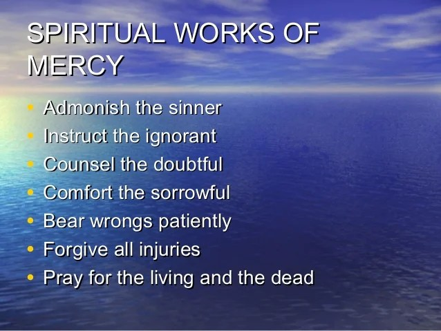 bear wrongs patiently spiritual works of mercy - 638×479