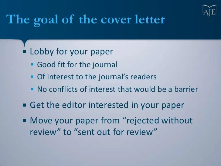 Writing a Cover Letter For Your Scientific Manuscript     Sample cover letter  3