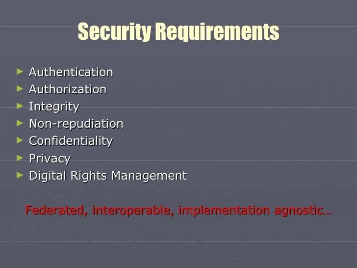Web Security Requirements