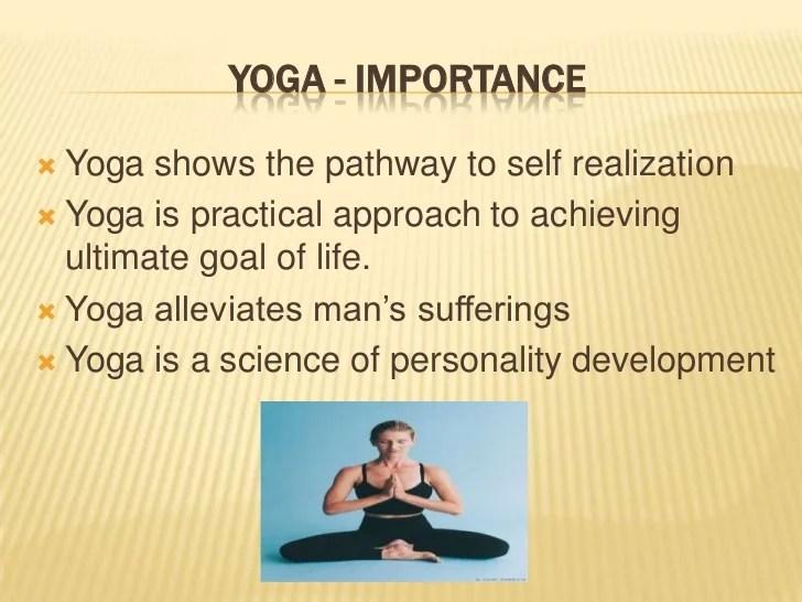 Importance Yoga