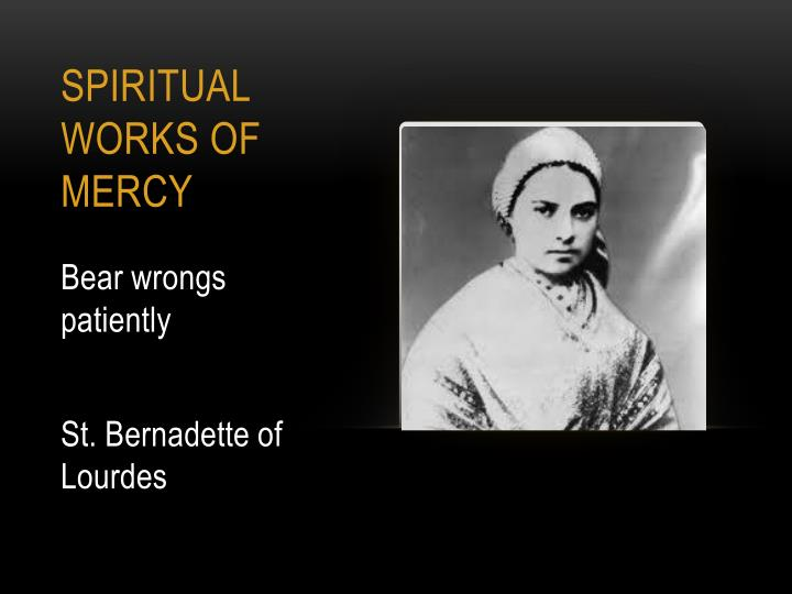 PPT - SAINTS AND THE WORKS OF MERCY PowerPoint ...