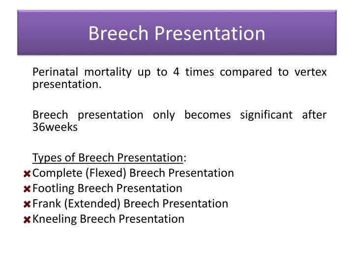 Types Cephalic Presentation