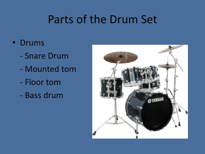 PPT   Introduction to the Drum Set PowerPoint Presentation   ID 2532218 Parts of the Drum Set