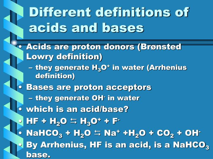 Description Acids And Bases