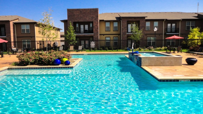 Anatole at City View   Lubbock  TX   Apartment Finder Relaxing pool area   Anatole at City View