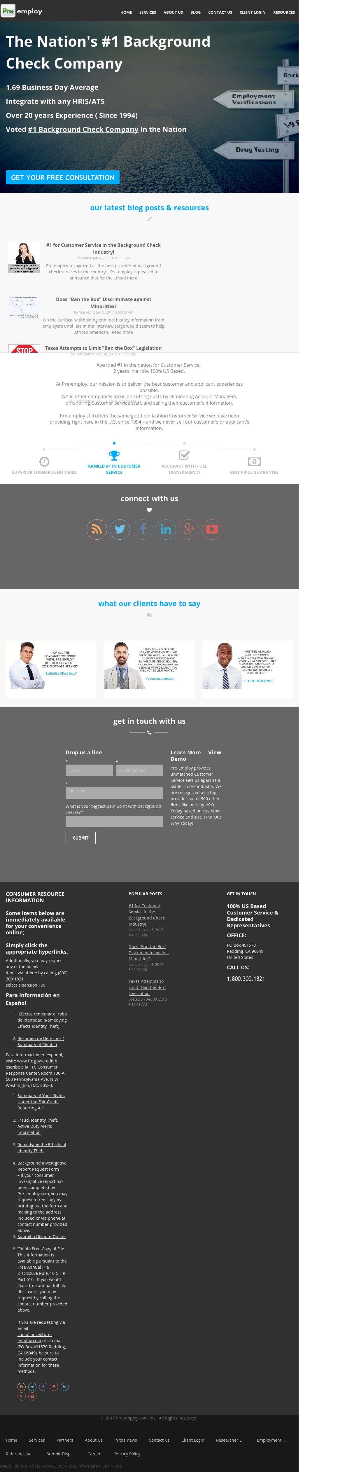 Pre Employ Competitors  Revenue and Employees   Owler Company Profile Pre Employ website history